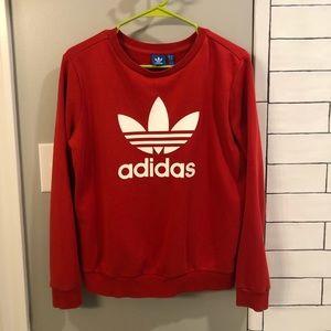 Bright Red Adidas Sweatshirt